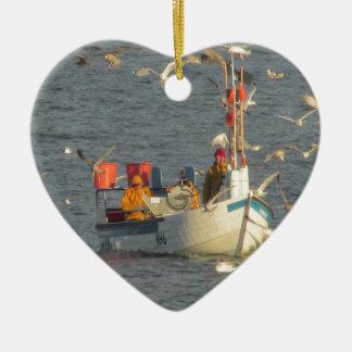 Fishing boat.JPG Ceramic Heart Decoration