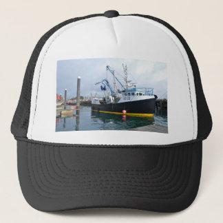 Fishing Boat Leaving Harbor Trucker Hat