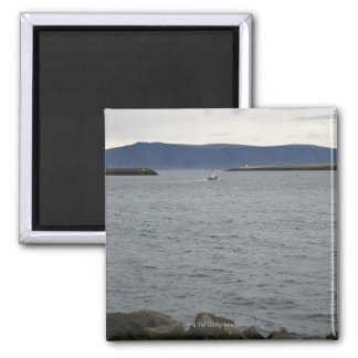 Fishing boat leaving harbour, Reykjavik, Iceland Magnet