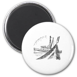 Fishing Boat Fridge Magnet