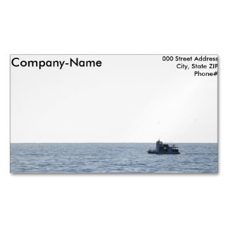 Fishing Boat Magnetic Business Card