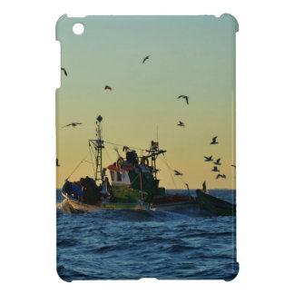 Fishing Boat Mobbed By Gulls iPad Mini Covers