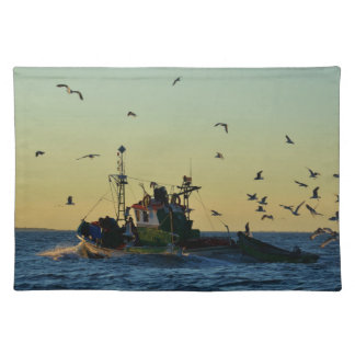 Fishing Boat Mobbed By Gulls Placemat