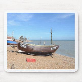Fishing Boat Mona Lisa Mousepad