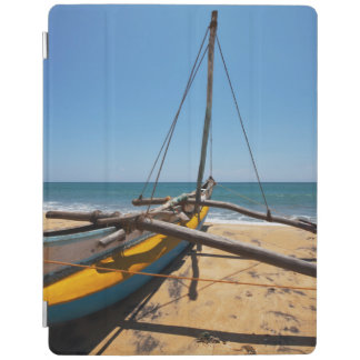 Fishing Boat Moored On Beach iPad Cover