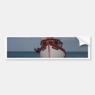 Fishing Boat Morning Haze On Beach Bumper Sticker