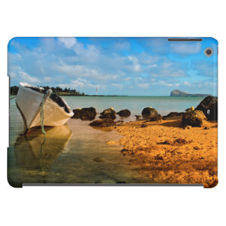 Fishing Boat On Mauritian Beach With Islet iPad Air Covers