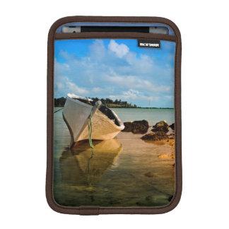 Fishing Boat On Mauritian Beach With Islet iPad Mini Sleeve