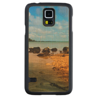 Fishing Boat On Mauritian Beach With Islet Maple Galaxy S5 Slim Case