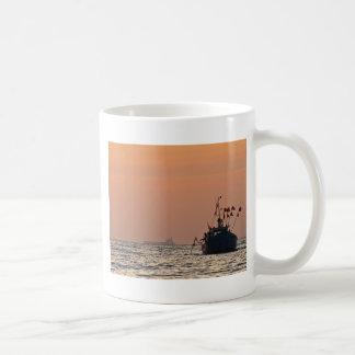 Fishing boat on the Baltic Sea Basic White Mug