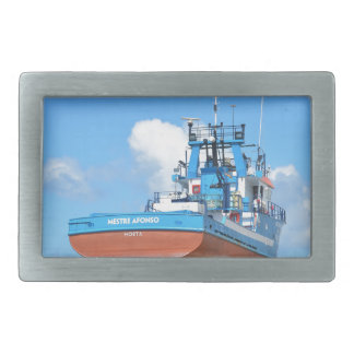 Fishing Boat On The Hard Belt Buckles