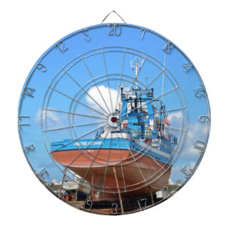 Fishing Boat On The Hard Dartboard