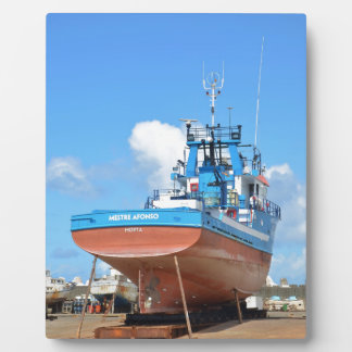 Fishing Boat On The Hard Photo Plaques