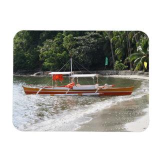 Fishing boat rectangular photo magnet