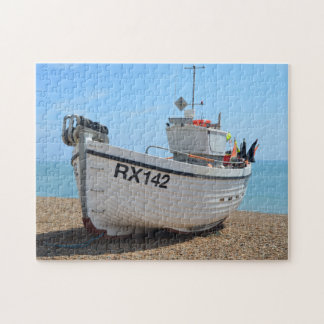Fishing Boat RX142 Hastings England Jigsaw Puzzle