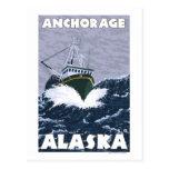 Fishing Boat Scene - Anchorage, Alaska Post Card