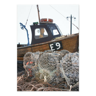 Fishing boat, Sidmouth, Devon, UK Card