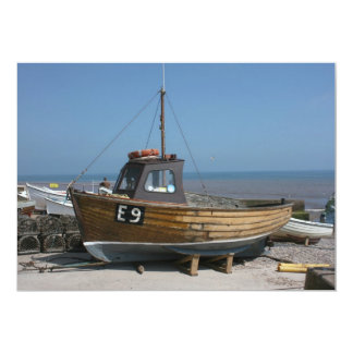Fishing boat, Sidmouth, Devon, UK Card