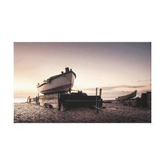 Fishing Boat Sunrise Canvas Print