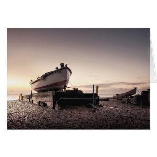 Fishing Boat Sunrise Card