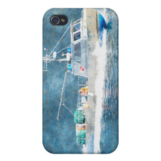 Fishing Boat Trawler Watercolour Art iPhone Case iPhone 4/4S Case
