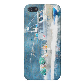 Fishing Boat Trawler Watercolour Art iPhone Case iPhone 5/5S Cover