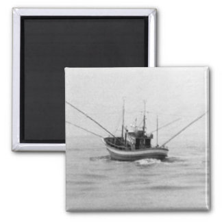 Fishing Boat Trolling Refrigerator Magnets