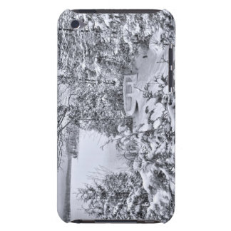 Fishing Boat, Winter Forest, Christmas Snowstorm iPod Touch Case