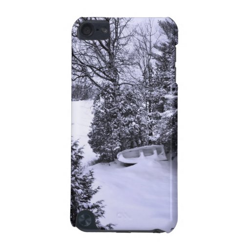 Fishing Boat, Winter Forest, Christmas Snowstorm iPod Touch 5G Cases