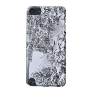 Fishing Boat, Winter Forest, Christmas Snowstorm iPod Touch 5G Covers