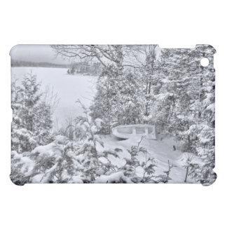 Fishing Boat, Winter Forest, Christmas Snowstorm Case For The iPad Mini