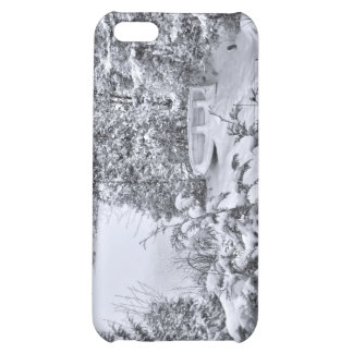 Fishing Boat, Winter Forest, Christmas Snowstorm iPhone 5C Case