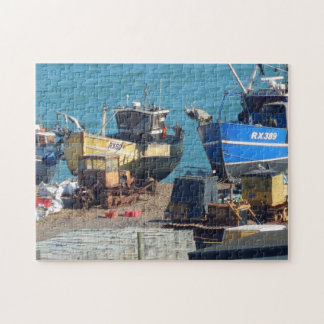 Fishing Boats at Hastings Sussex Jigsaw Puzzle