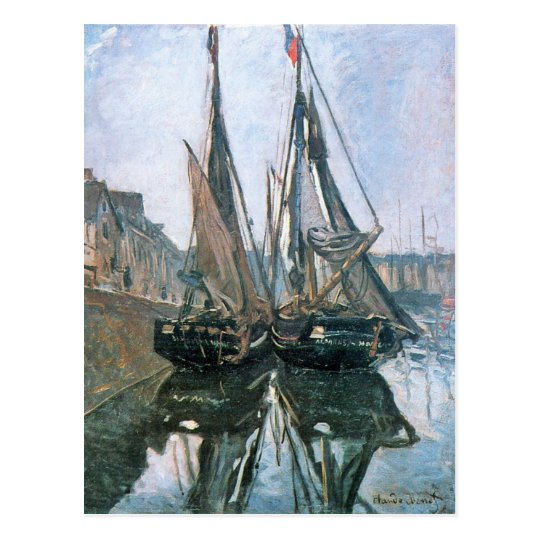 Fishing Boats at Honfleur by Claude Monet Postcard