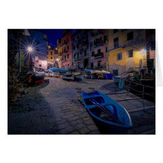 Fishing boats at Riomaggiore, Cinque Terre, Italy Card