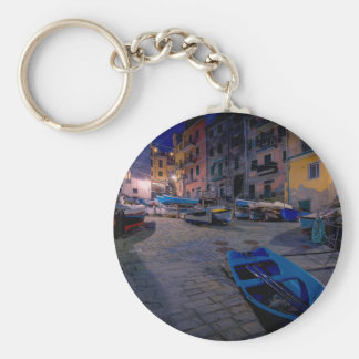 Fishing boats at Riomaggiore, Cinque Terre, Italy Keychains