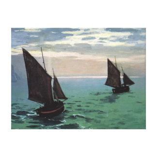 Fishing Boats at Sea Canvas Print