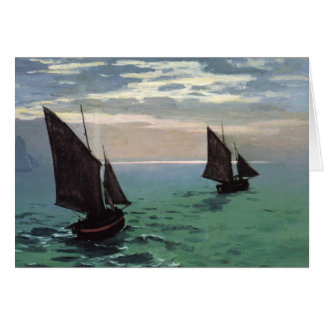 Fishing Boats at Sea Card