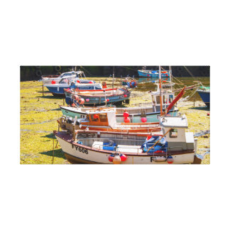Fishing Boats at tides out Canvas Print