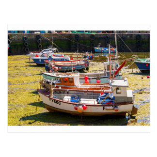 Fishing Boats at tides out Postcard