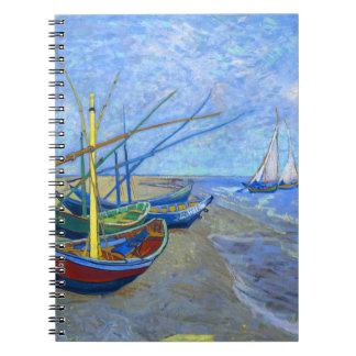 Fishing Boats Beach Saintes-Maries Van Gogh Fine Notebook