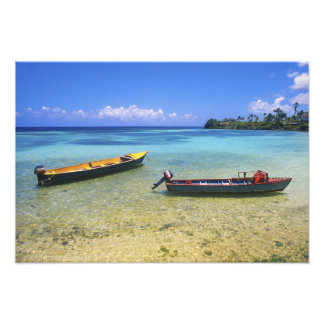Fishing Boats, Boston Beach, Port Antonio, Photo Print