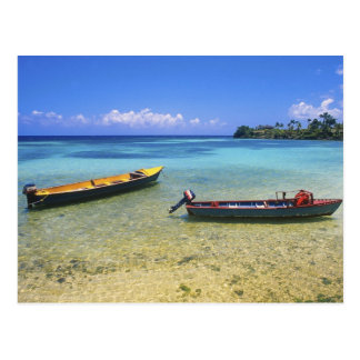 Fishing Boats, Boston Beach, Port Antonio, Postcard