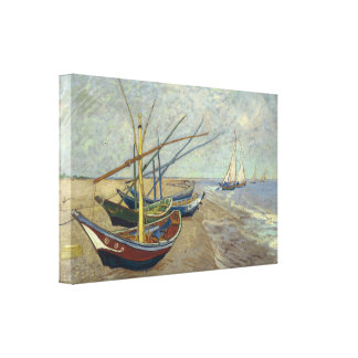 Fishing Boats by Vincent Van Gogh Gallery Wrap Canvas