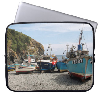 Fishing Boats Cadgwith Cornwall England Laptop Sleeve