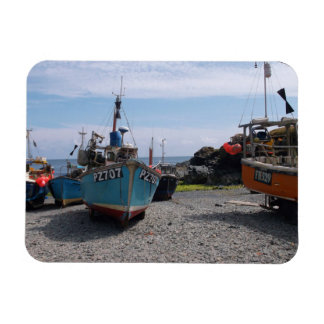 Fishing Boats Cadgwith Cornwall England Rectangle Magnet
