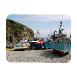 Fishing Boats Cadgwith Cornwall England Rectangle Magnets
