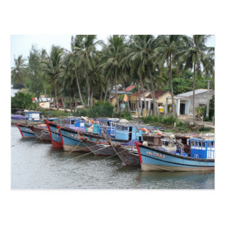 Fishing Boats, Hoi An, Vietnam Postcard