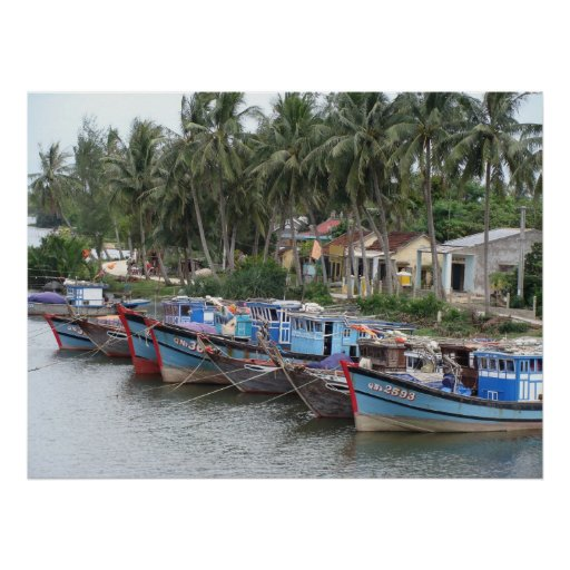 Fishing Boats, Hoi An, Vietnam Poster