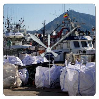 Fishing boats in Altea, Alicante, Spain Wallclock